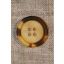 Gylden/brun knap 22 mm.