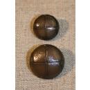 """""""Læder"""" look oliven/brun, 18 mm."""