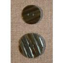 Grøn stribet knap 18 mm