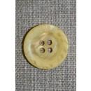 4-huls knap krakeleret lys gul, 20 mm.