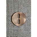 Lysebrun knap m/aflange huller, 12 mm.