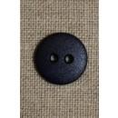 Mørkeblå 2-huls knap 15 mm.