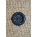 Grå/blå 2-huls knap 12 mm.