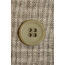 Sart lysegrøn 4-huls knap 15 mm.