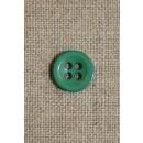 Lille grøn 4-huls knap 11 mm.