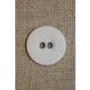 Hvid lærreds knap 18 mm.