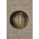 4-huls knap, brun/beige