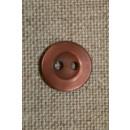 2-huls knap brun/rosa 10 mm.