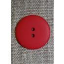 Rød 2-huls knap, 20 mm.