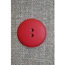 Rød 2-huls knap, 17 mm.