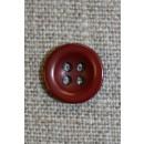 Bordeaux 4-huls knap, 12 mm.