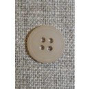 Beige 4-huls knap, 12 mm.