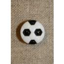 Fodbold knap sort/hvid