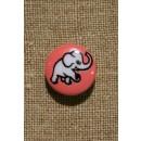 Knap m/elefant, lyserød