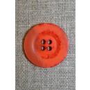 Orange krakeleret 4-huls knap, 22 mm.