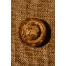 Off-white/brun knap, 18 mm.