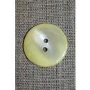 Perlemors-knap lysegul/off-white