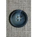 Grå/blå-meleret 4-huls knap