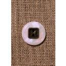 Off-white knap perlemors-look m/gl.guld