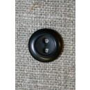 Sort 2-huls knap 13 mm.