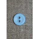 Lille lyseblå knap, 11 mm.