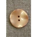 Skæv knap, pudder, 20 mm.