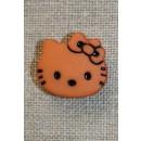Knap Hello Kitty, støvet orange