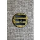 Knap m/striber sort/okker-lime, 18 mm.