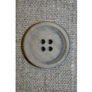 Sand meleret 4-huls knap, 15 mm.