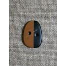 Horn-knap oval 2 farvet