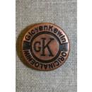 Patent knap 25 mm. kobber