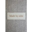 """Beige mærke """"Made by olde"""""""