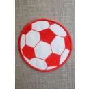 Fodbold rød/hvid, stor