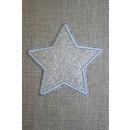 Motiv i sølv, stjerne 75 mm.