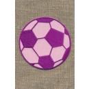 Fodbold lyserød/cerisse, stor
