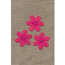 3 blomster, pink