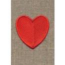 Motiv m/rødt hjerte, 45 mm