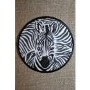 Rundt strygemærke zebra