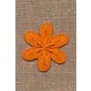Motiv med blomst i orange