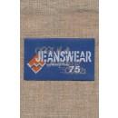 Motiv i støvet blå Jeanswear