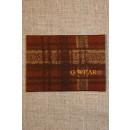 Mærke ternet Q-wear, brun