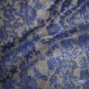 Rest Blonde blå med sølv lurex, 40 cm.