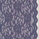 Strækblonde med buet kant i grå-lilla