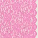 Strækblonde med buet kant i lyserød