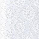Blonde viscose/polyester m/buet kant, hvid
