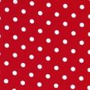 Rest Bomuld m/hvide prikker, rød-1.5 mtr.