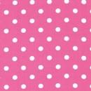 Bomulds-poplin m/hvide prikker, pink