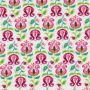 Bomuld m/tulipan hvid/lyserød/grøn