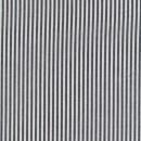 Bomuld stribet hvid/koksgrå