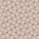 Bomuld m/snefnug, sand/hvid/rød